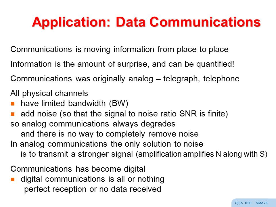 Application: Data Communications