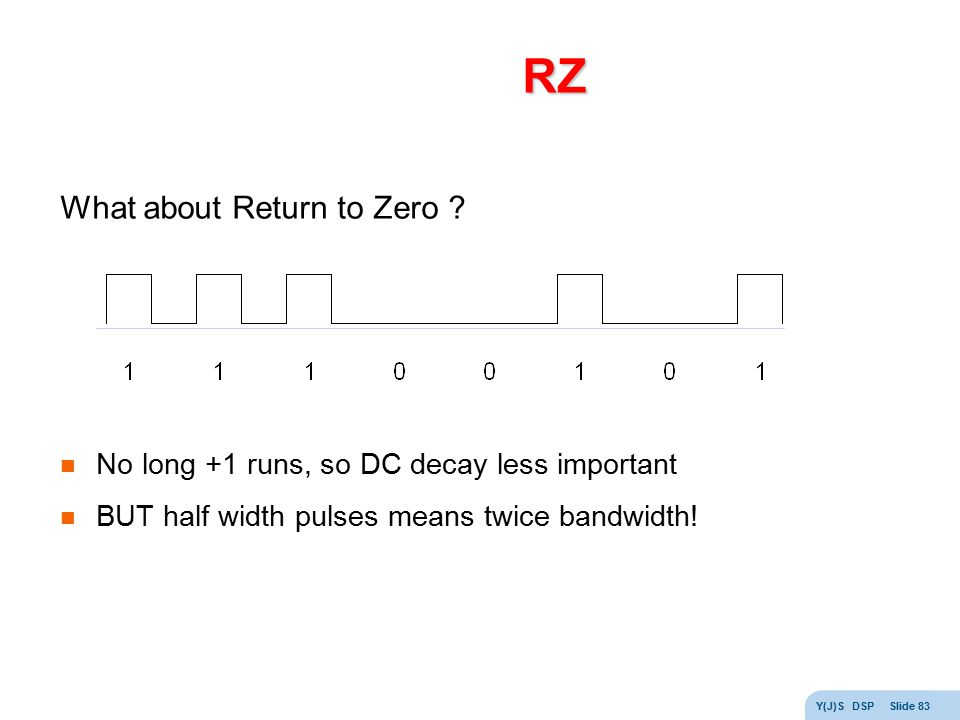 RZ What about Return to Zero