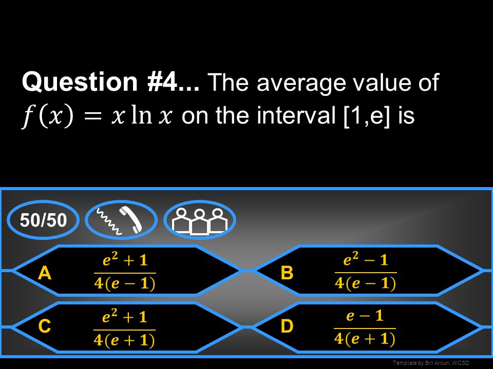 Question #4... The average value of