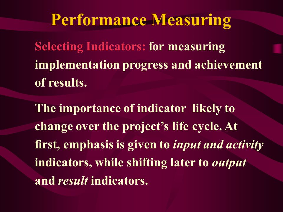 Performance Measuring