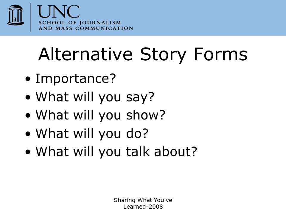 Alternative Story Forms
