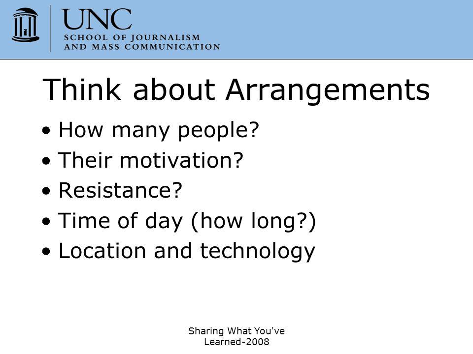 Think about Arrangements