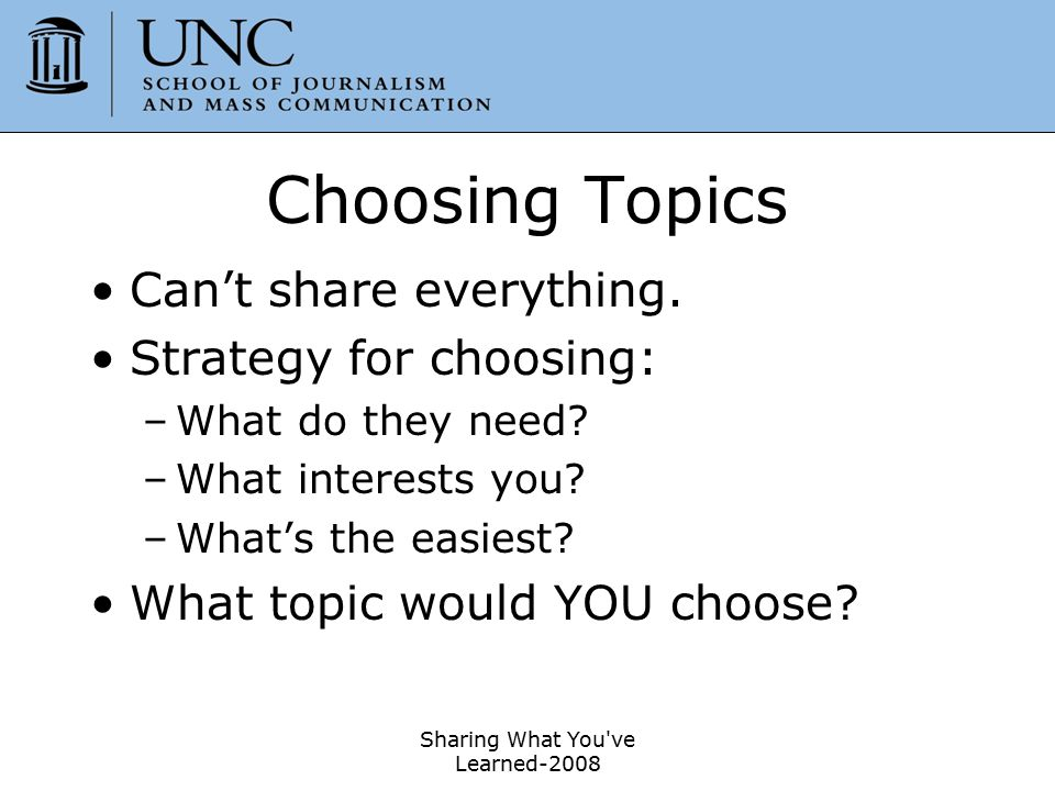 Sharing What You ve Learned-2008