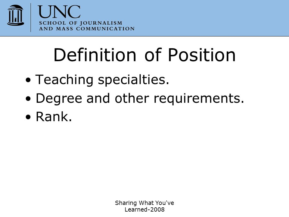 Definition of Position
