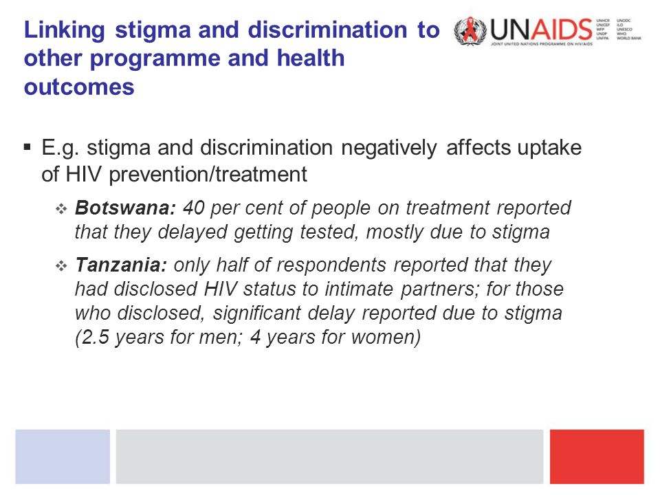 Linking stigma and discrimination to other programme and health outcomes