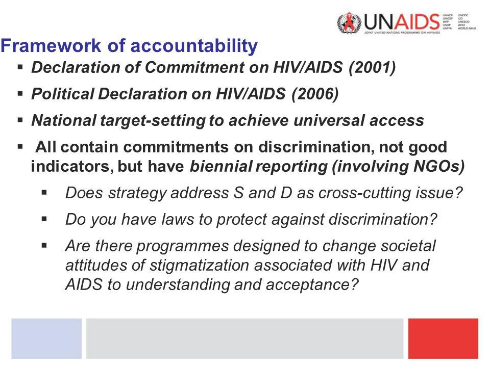 Framework of accountability