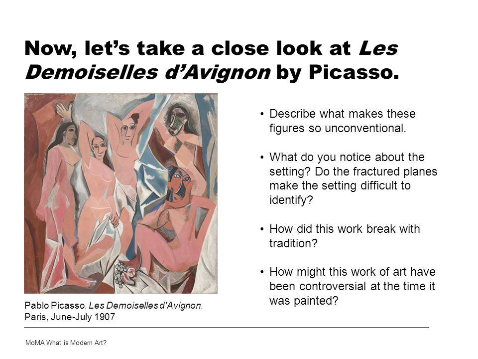 Now, let's take a close look at Les Demoiselles d'Avignon by Picasso.