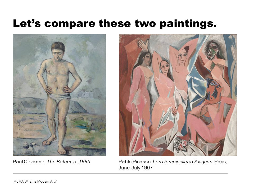Let's compare these two paintings.