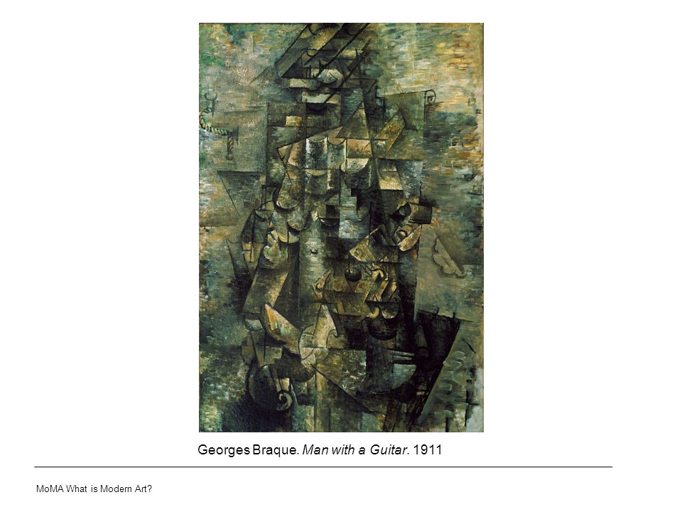 Georges Braque. Man with a Guitar. 1911