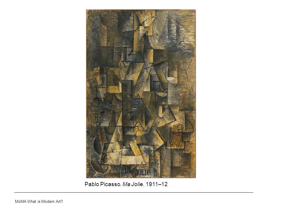 Pablo Picasso. Ma Jolie. 1911–12