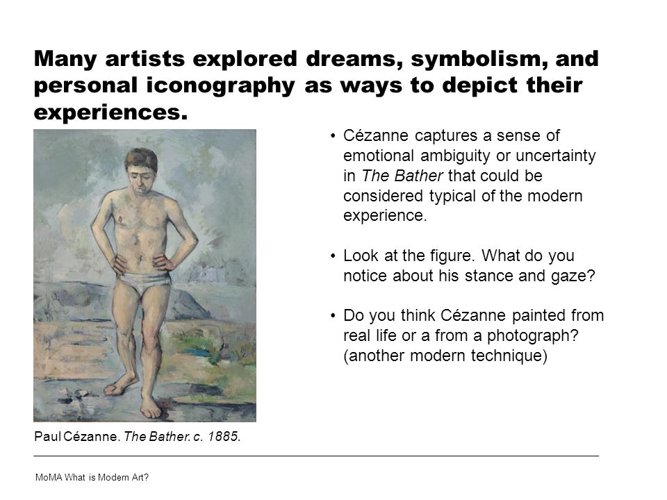Many artists explored dreams, symbolism, and personal iconography as ways to depict their experiences.