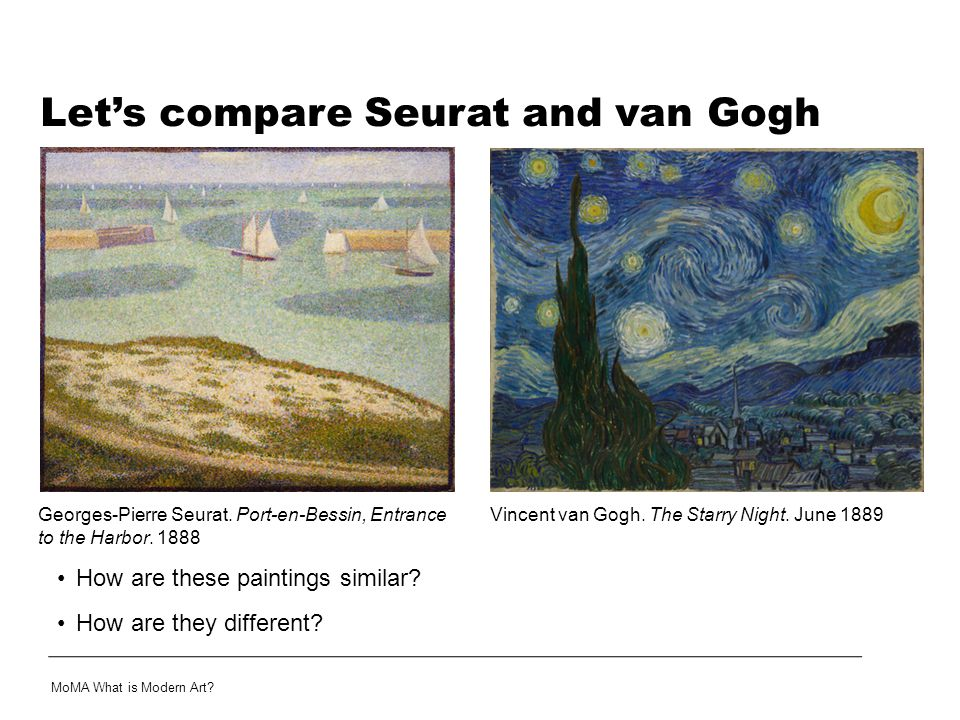 Let's compare Seurat and van Gogh