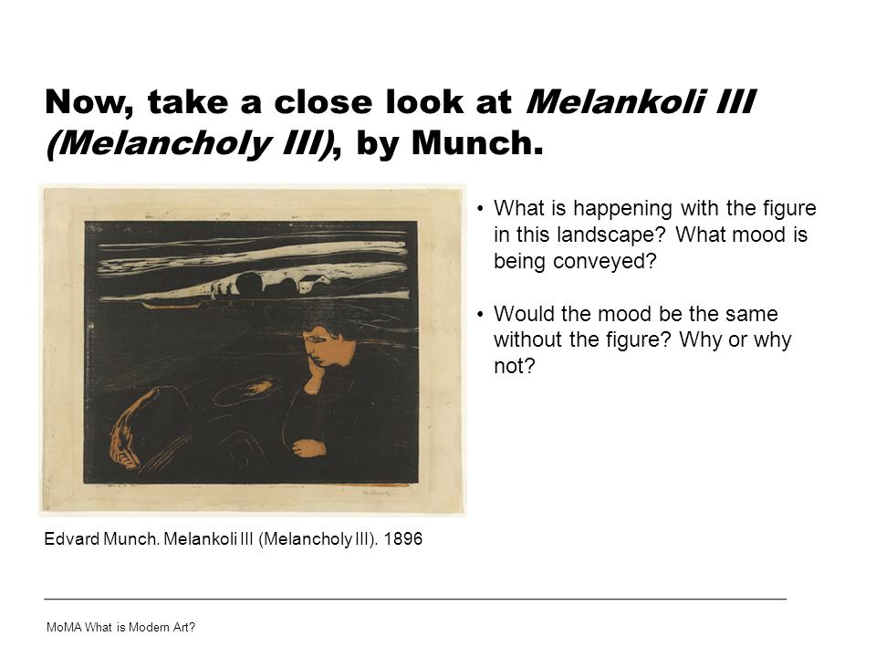 Now, take a close look at Melankoli III (Melancholy III), by Munch.