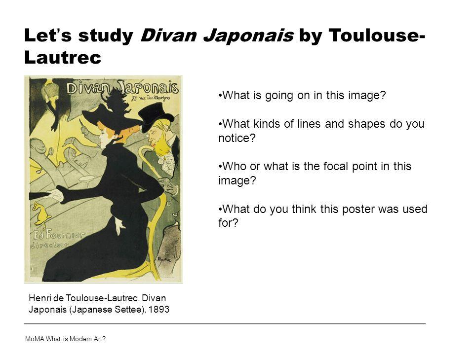 Let's study Divan Japonais by Toulouse-Lautrec