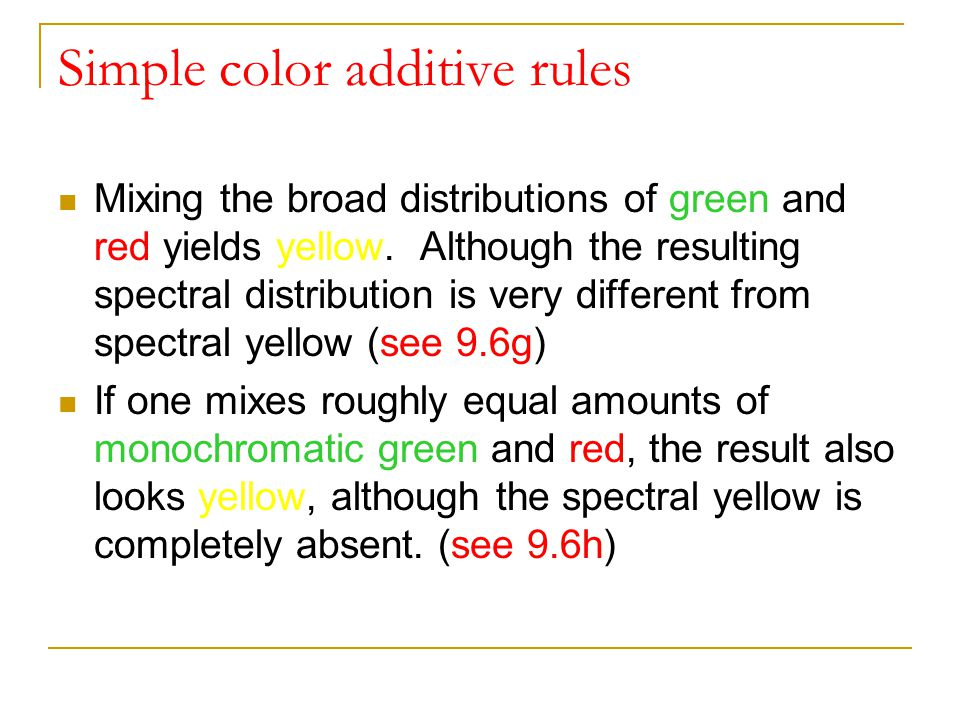 Simple color additive rules