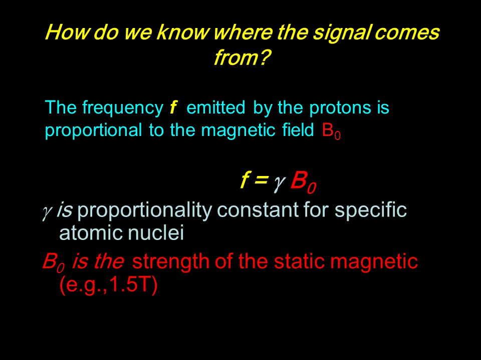 How do we know where the signal comes from