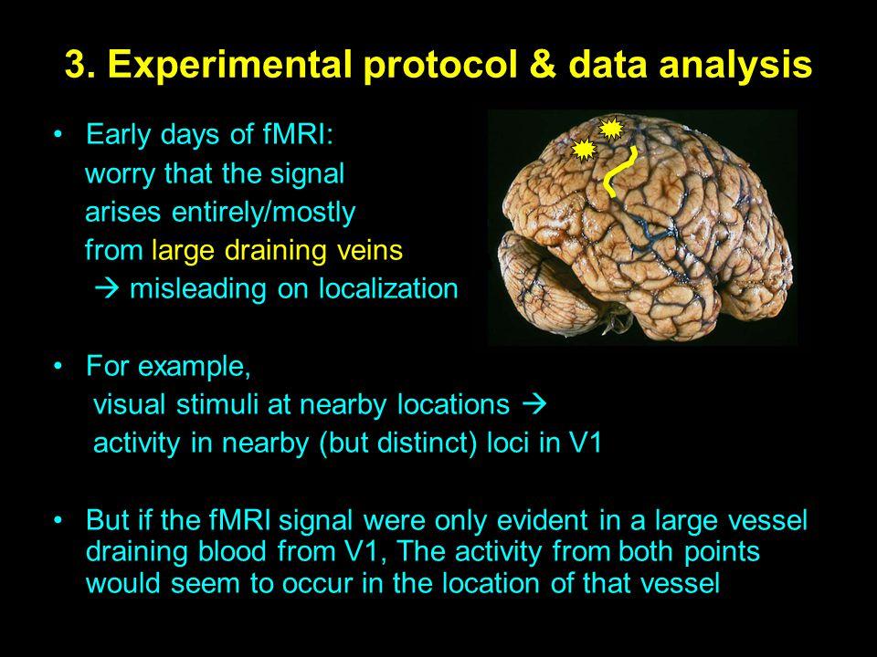3. Experimental protocol & data analysis