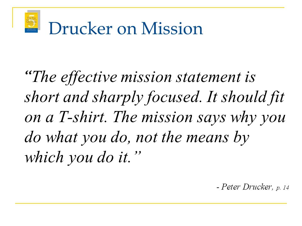 Drucker on Mission