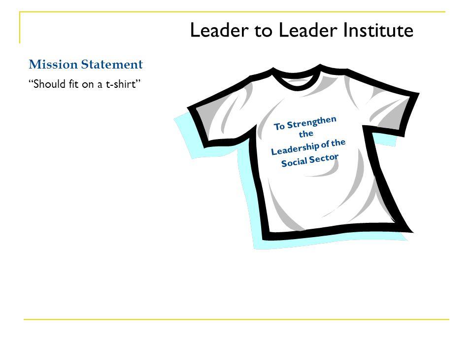Leader to Leader Institute