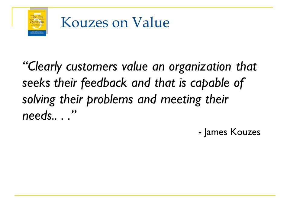 Kouzes on Value