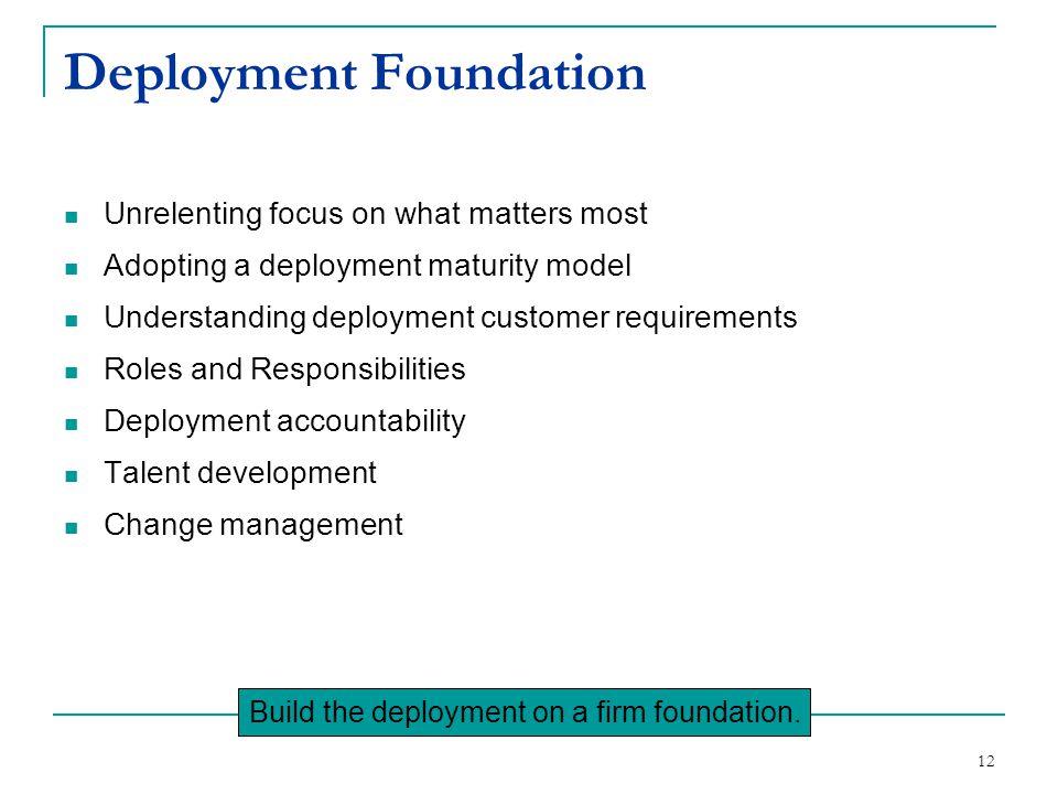 Deployment Foundation