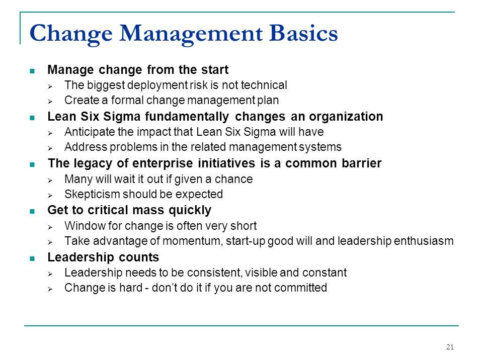 Change Management Basics