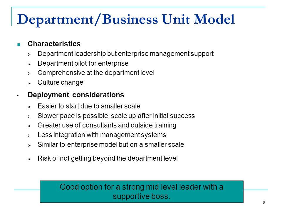 Department/Business Unit Model