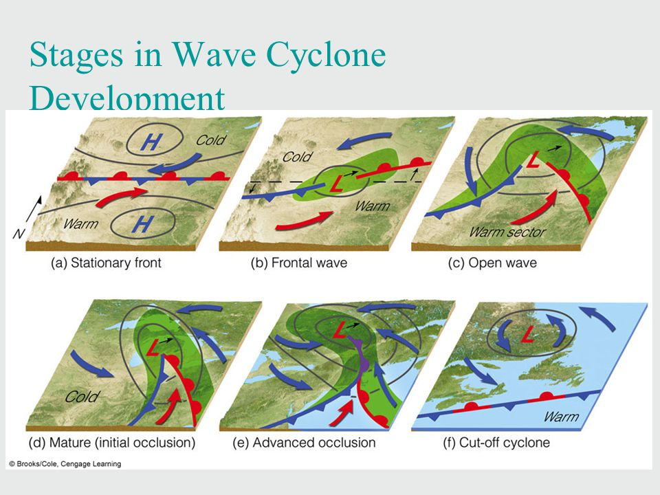 Stages in Wave Cyclone Development