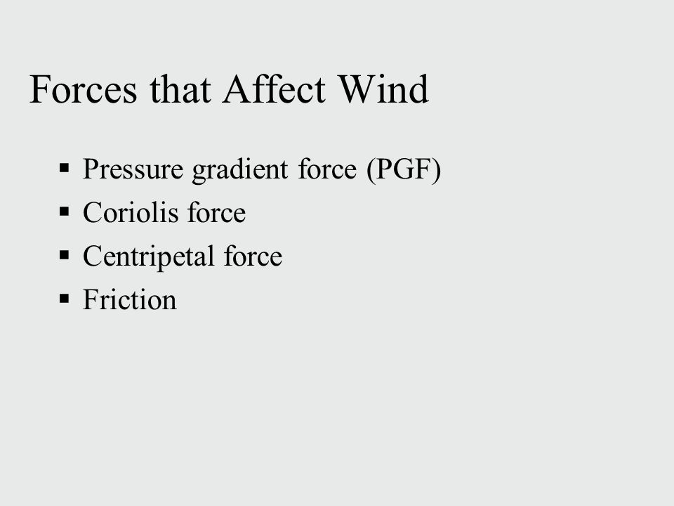 Forces that Affect Wind