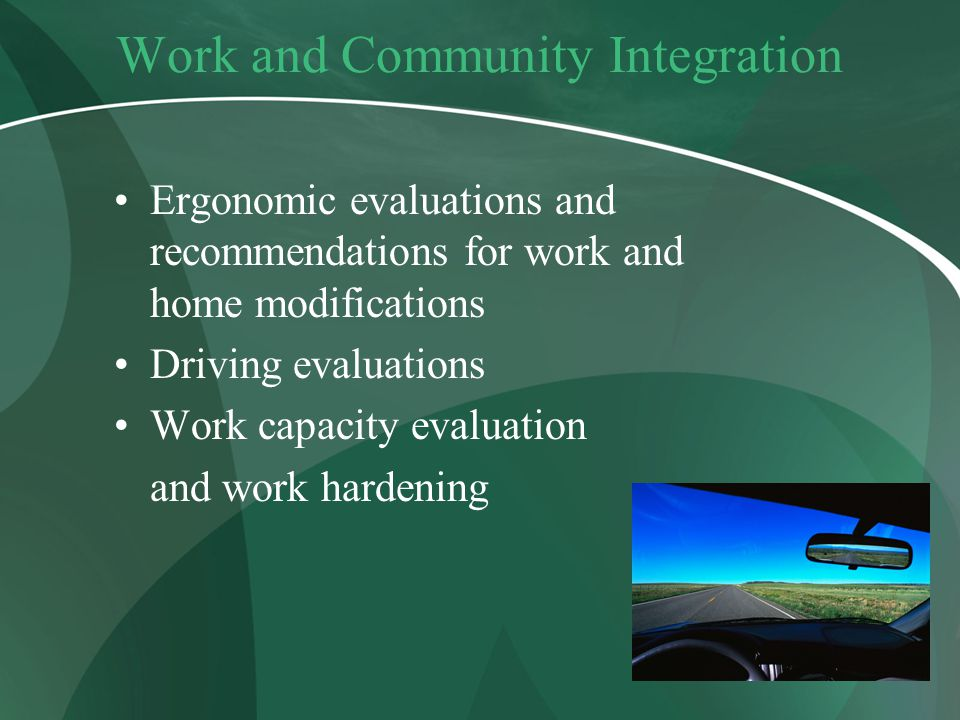 Work and Community Integration