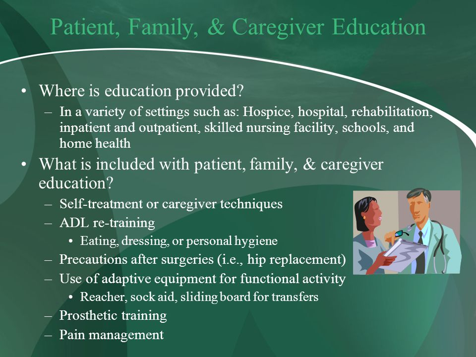 Patient, Family, & Caregiver Education
