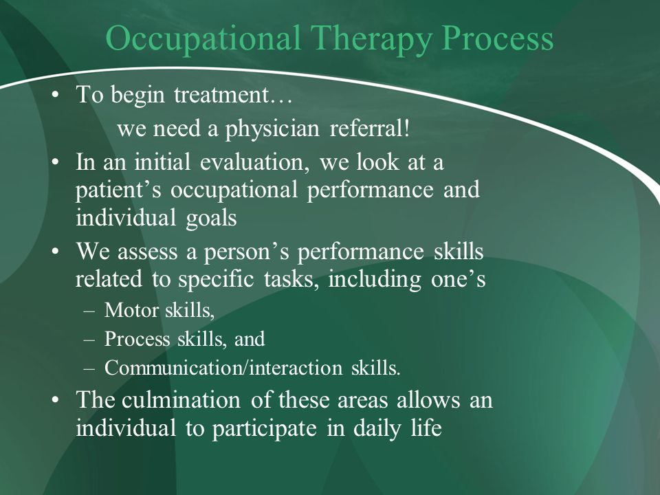 Occupational Therapy Process