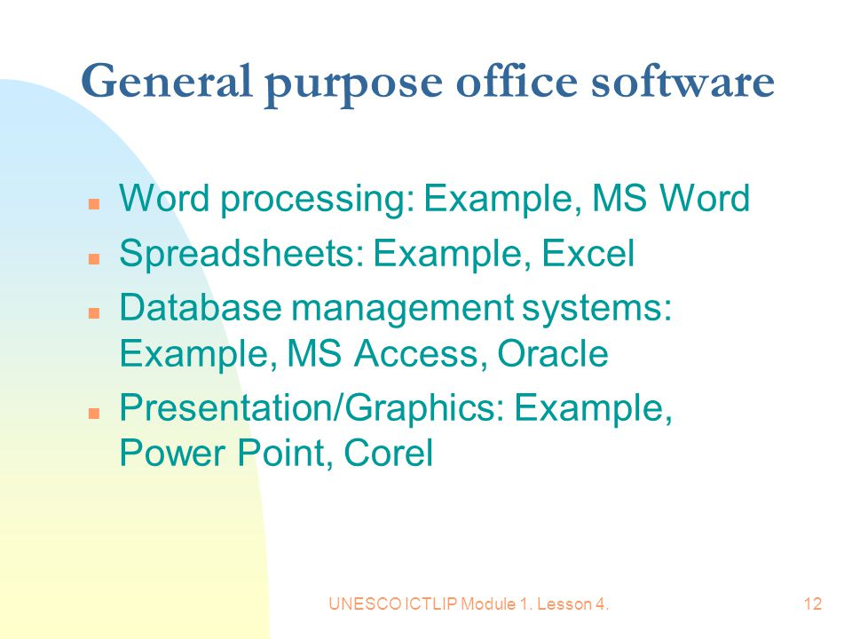 General purpose office software