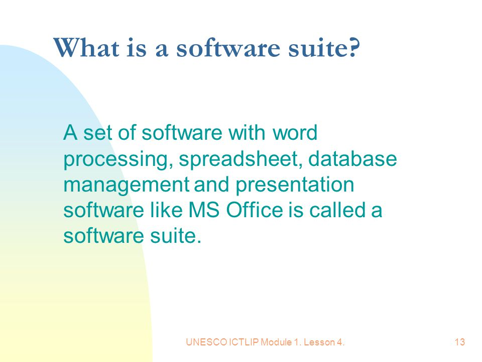 What is a software suite
