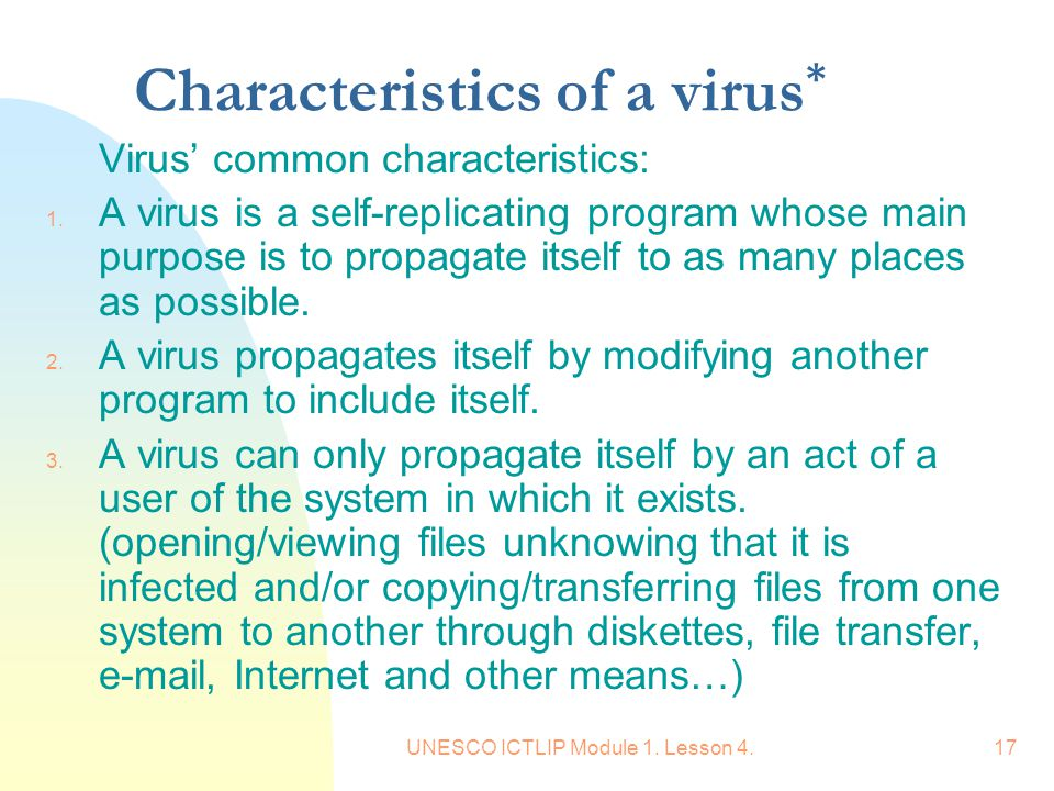 the main characteristics of computer viruses What are characteristics of computer networking update cancel ad by jira software, atlassian  what are the characteristics of computer virus  networking what are advantages of computer networks what are the characteristics of computer generations what are the main characteristics you look for in a long-term friend.