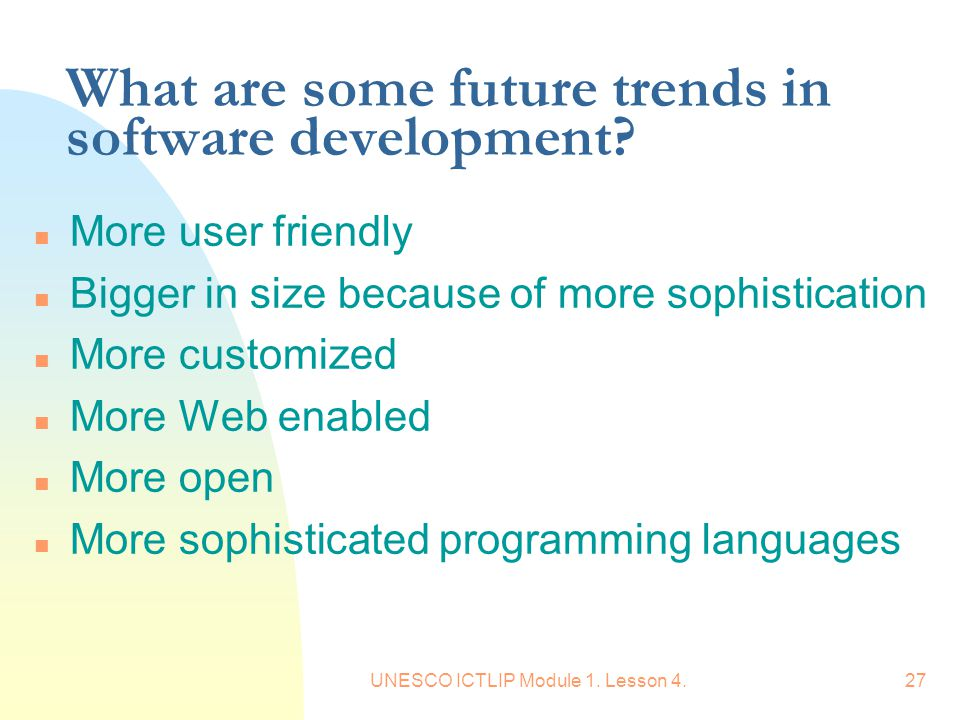 What are some future trends in software development