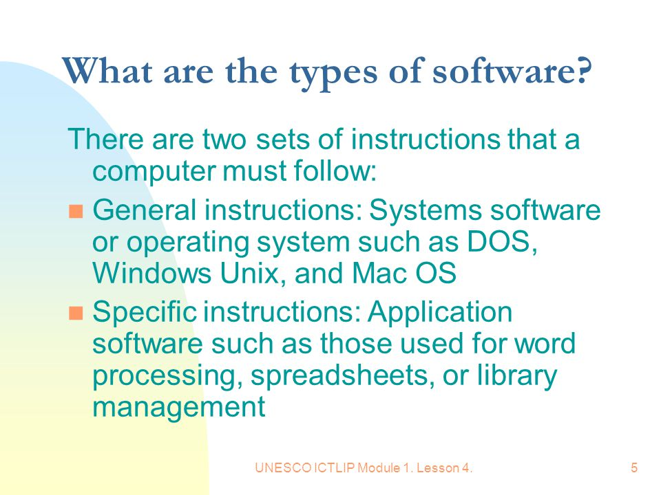 What are the types of software