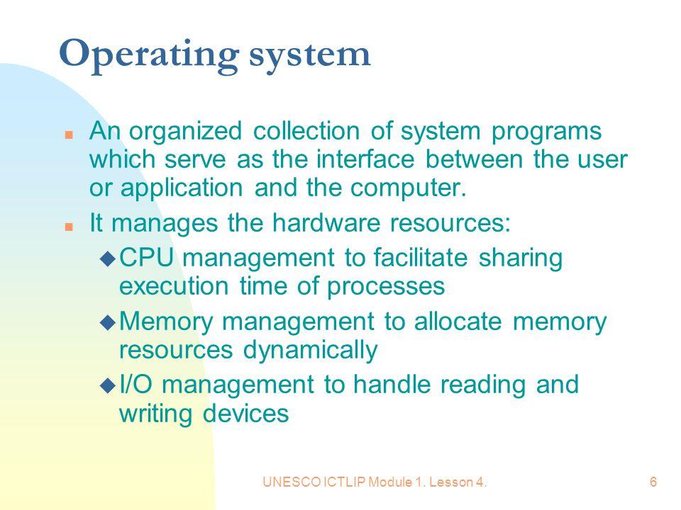 UNESCO ICTLIP Module 1. Lesson 4.