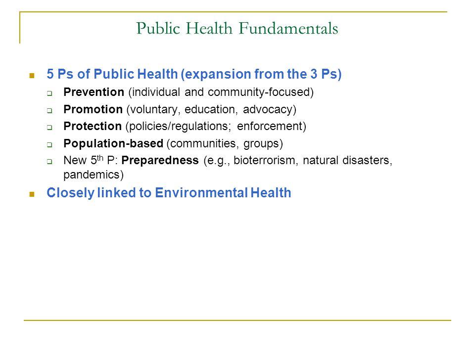 Public Health Fundamentals