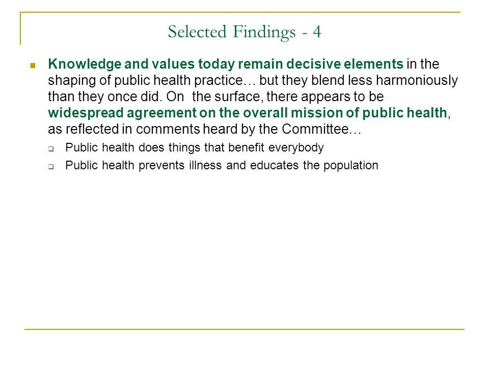 Selected Findings - 4