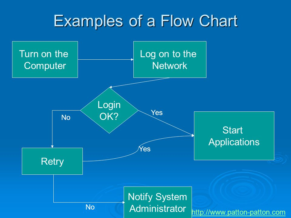 Examples of a Flow Chart