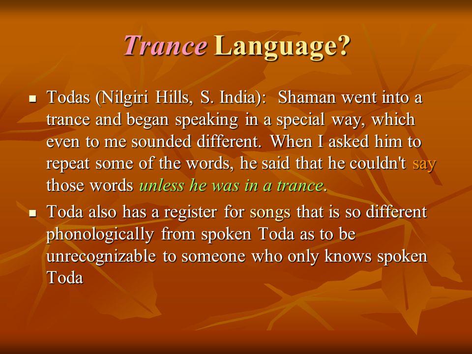 Trance Language