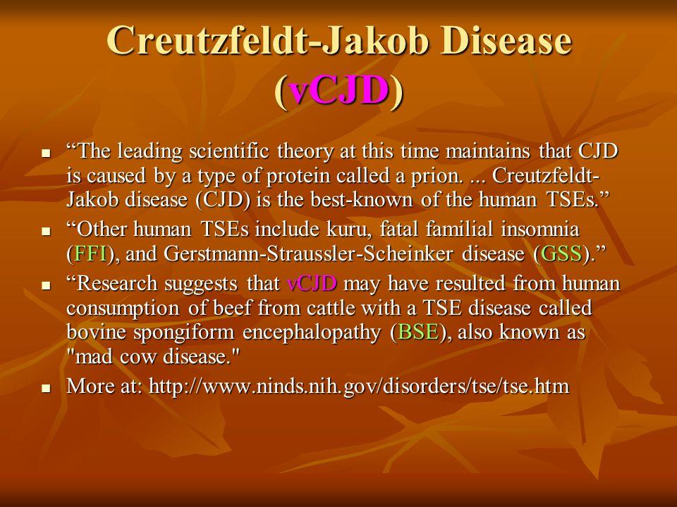 Creutzfeldt-Jakob Disease (vCJD)