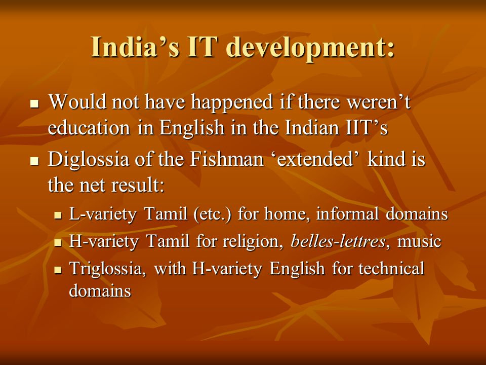 India's IT development: