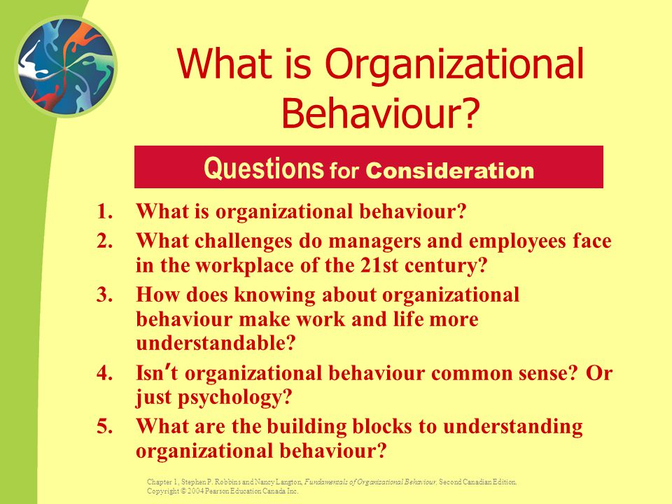 history of organizational behaviour Organizational behavior management (obm) is a form of applied behavior analysis alyce dickinson published an article in 2000 detailing the history of the field.