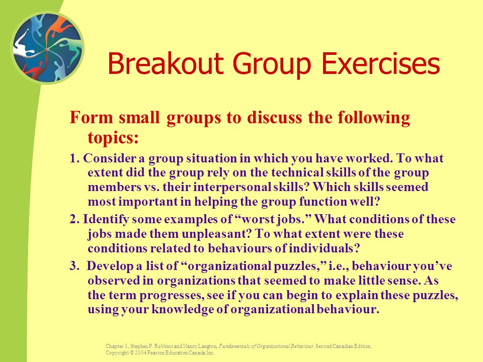 Breakout Group Exercises