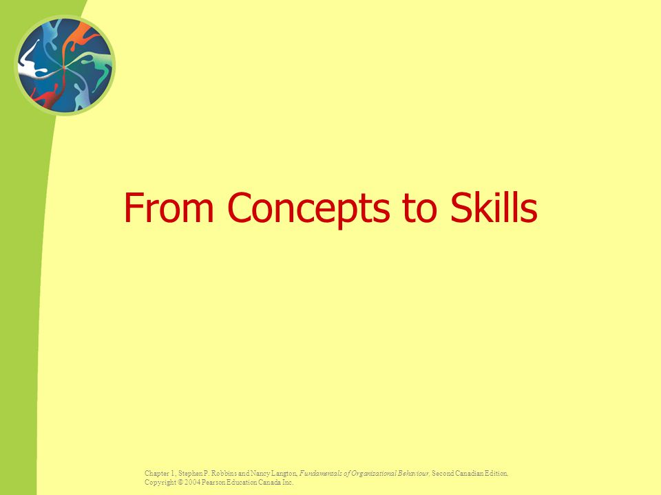 From Concepts to Skills