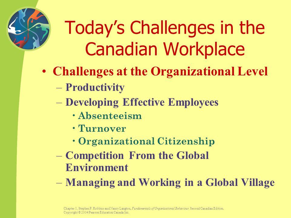 Today's Challenges in the Canadian Workplace