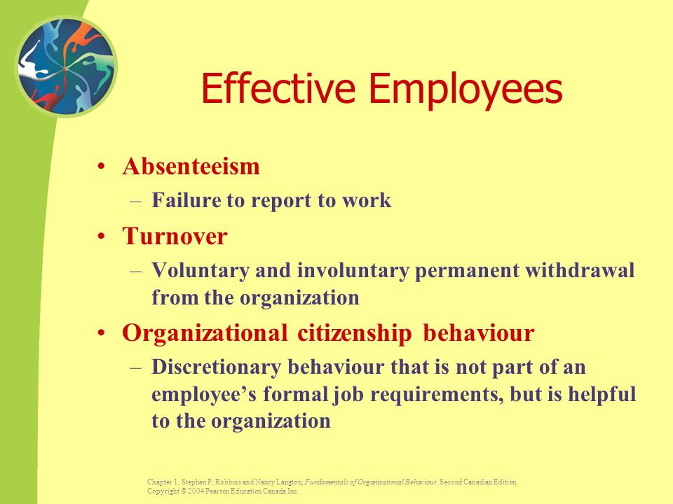 Effective Employees Absenteeism Turnover