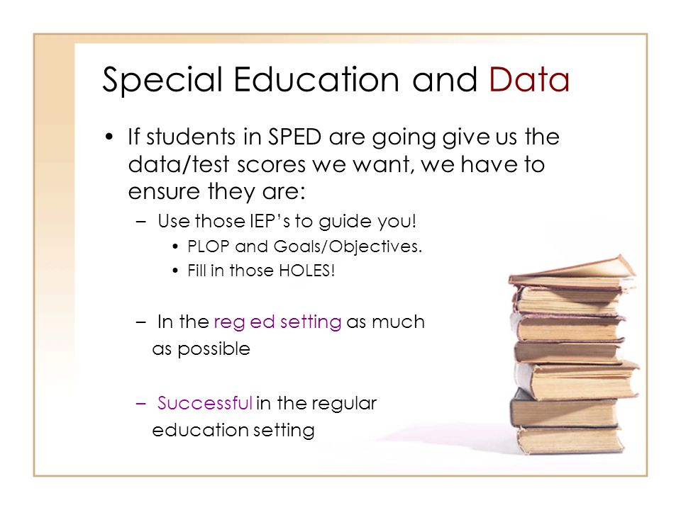 Special Education and Data